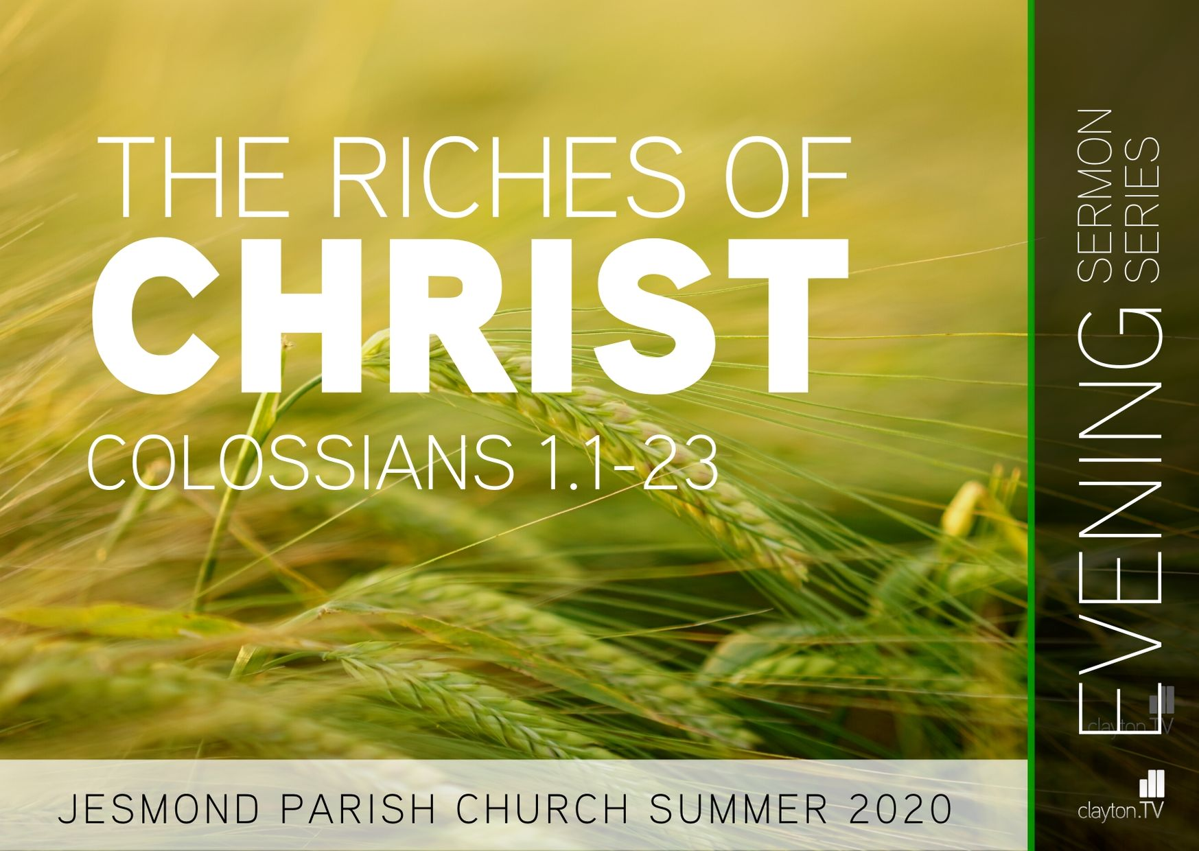 Sermon Series 2020 May-June PM